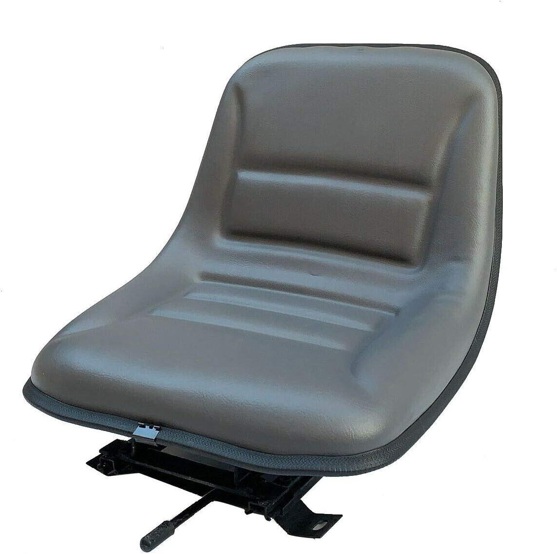 TABODD Asiento para tractor de jardín, asiento de carretilla elevadora, asiento universal para cortacésped, asiento trasero de tractor, asiento para carretilla elevadora, vehículos agrícolas