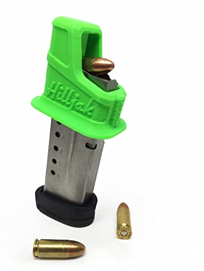 Hilljak Springfield Armory XD-S 9mm single-stack magazine loader by Neon Green
