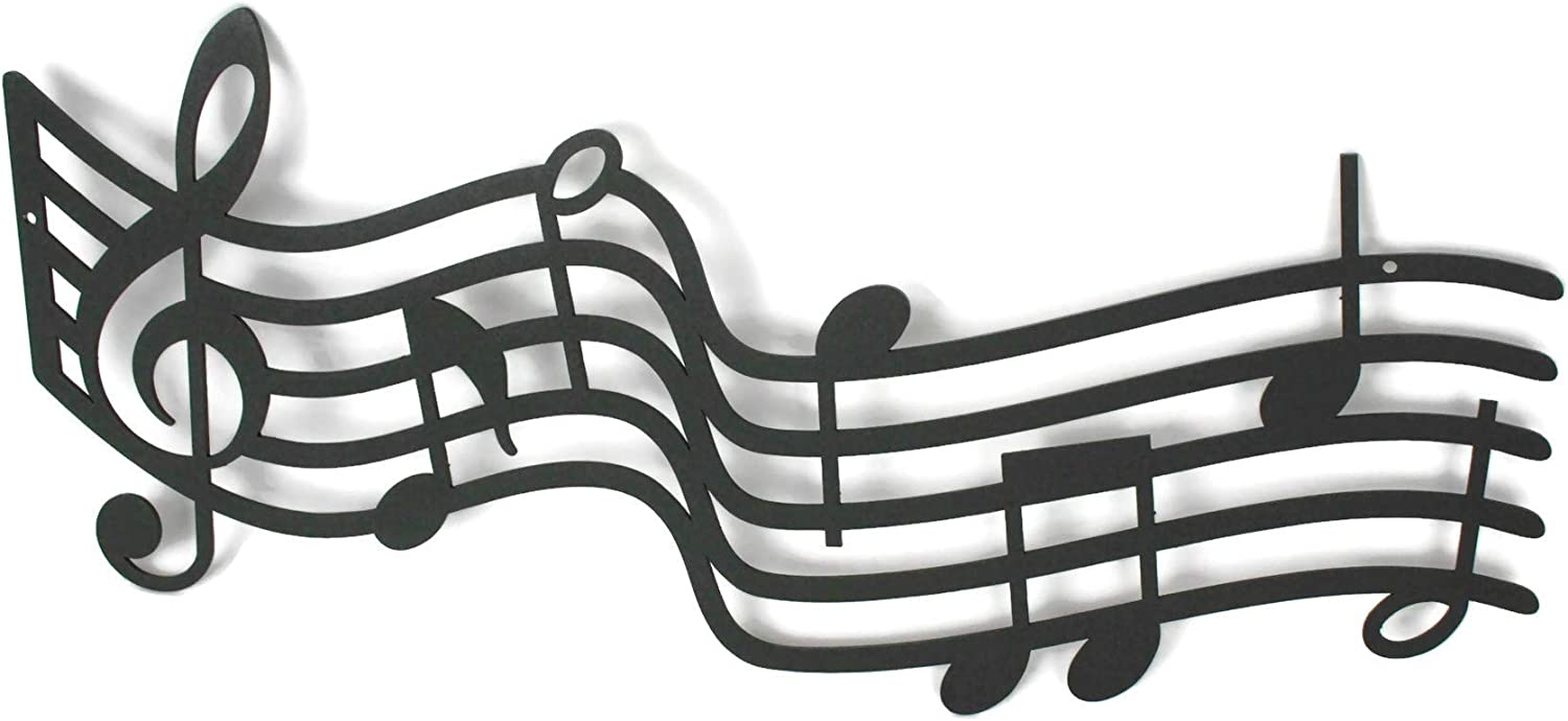 "Metal Music Staff Wall Decor (16"")"