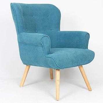 bas prix 2412f d1ab9 INSIDE Fauteuil Fixe Design scandinave Pinto Tissu Bleu ...