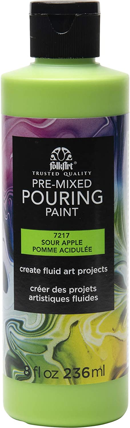 FolkArt Pre-Mixed Acrylic Pouring Paint, 8 oz, Sour Apple
