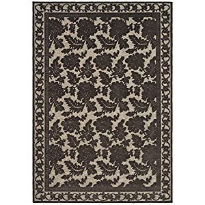 safavieh msr4433c martha stewart collection peony damask viscose area rug 8feet by 11feet 2inch light brown - Martha Stewart Rugs