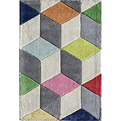 Momeni Rugs LMOTWLMT15MTI2030 Lil' Mo Hipster Collection, Kids Themed Hand Carved & Tufted Area Rug, 2' x 3', Multicolor