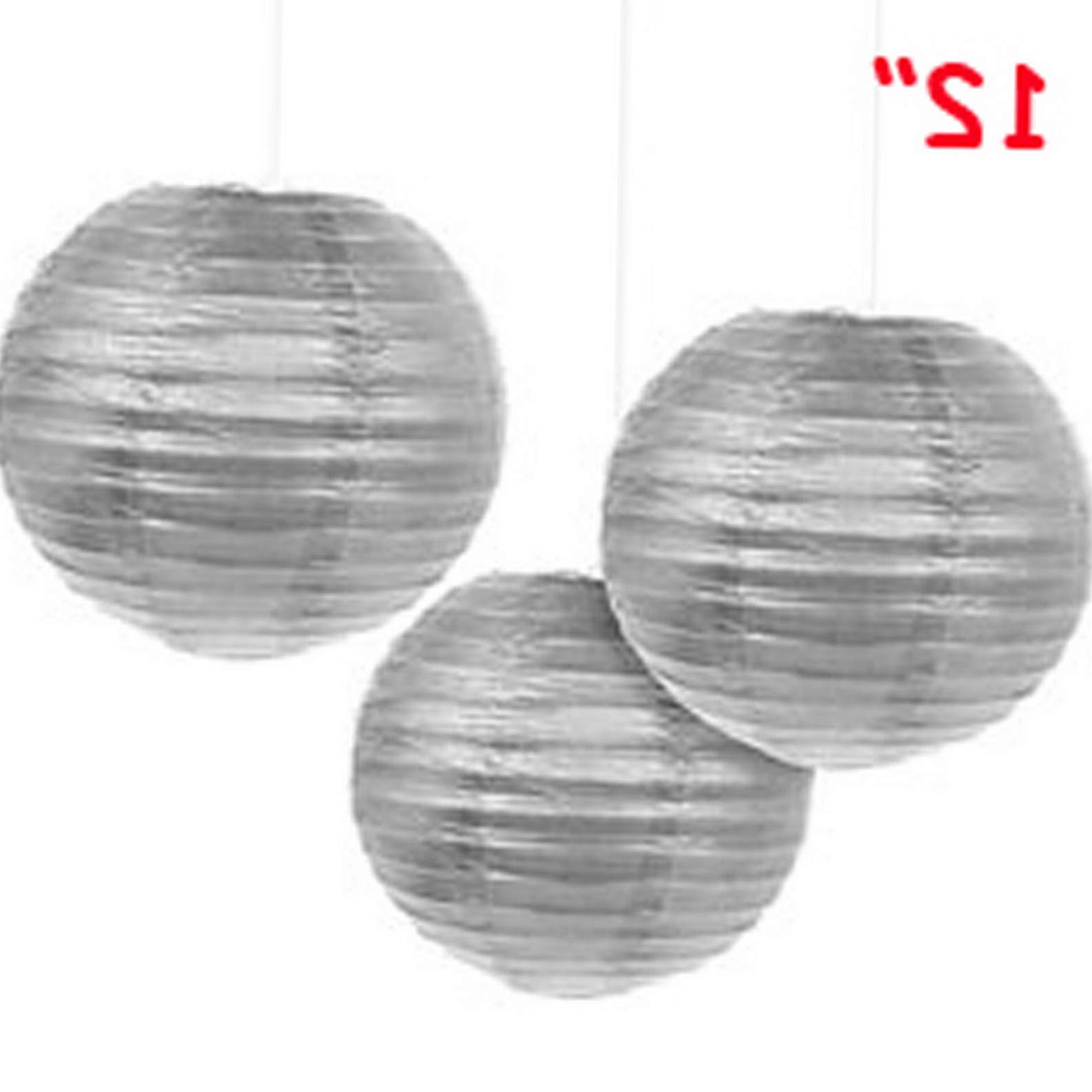 Mikash 12X Round Chinese Paper Lanterns lamp 12 Wedding Party Floral Event Decoration | Model WDDNGDCRTN - 25484 | with Light