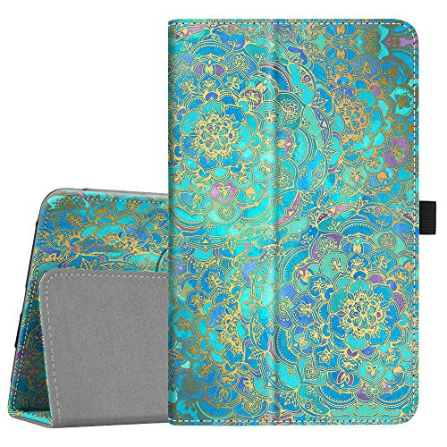 Fintie Folio Case for Samsung Galaxy Tab A 8.0 2018 Model SM-T387 Verizon/Sprint/T-Mobile/AT&T, Slim Fit Premium Vegan Leather Stand Cover, Shades of Blue ()