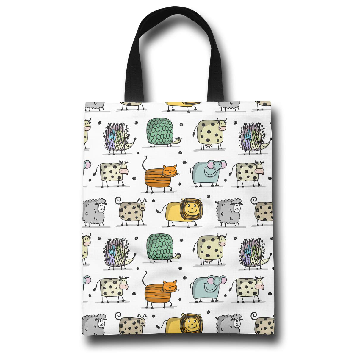 Amazon.com - LXXTK Women s Funny Animals Reusable Grocery Shopping Bags  Casual Canvas Tote Bags Foldable Party Bag - dfbc71bb6