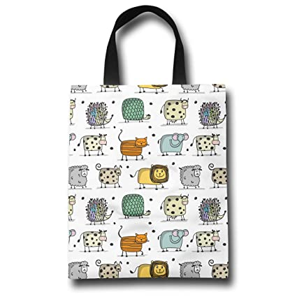 Image Unavailable. Image not available for. Color  LXXTK Women s Funny  Animals Reusable Grocery Shopping Bags ... 7428bfb4d9