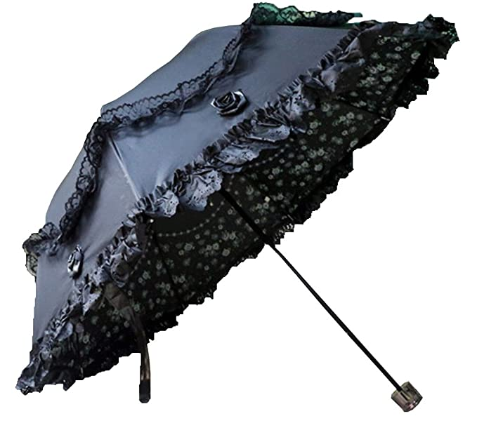 Victorian Parasols  Lace Sunshade Anti-UV Windproof Rain Umbrella $28.99 AT vintagedancer.com