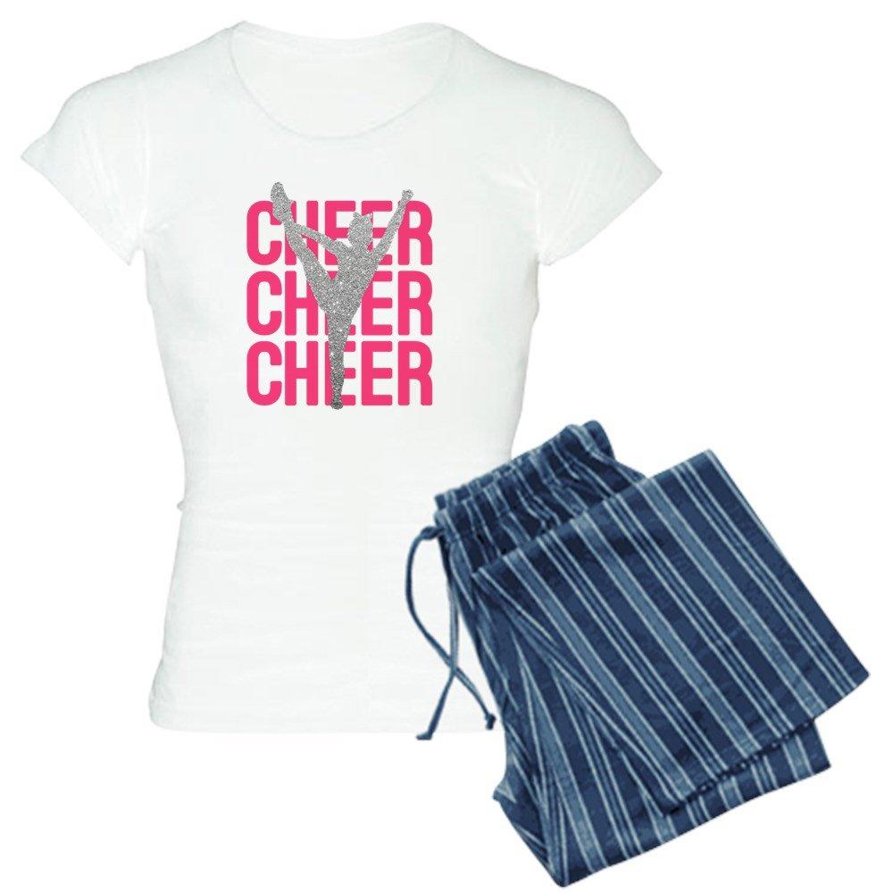 CafePress - Pink Cheer Glitter Silhouet - Womens Pajama Set