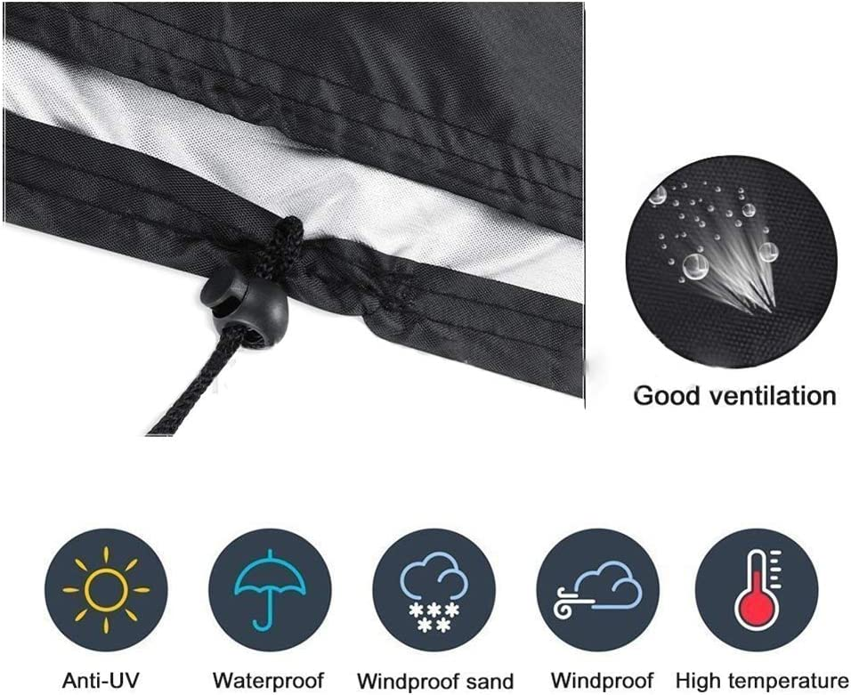 Circular Patio Furniture Cover Outdoor Wild Donkey Dust-Proof 210D Waterproof Heavy Duty Barbecue Grill Cover Size : 58x77cm