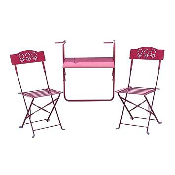 Outsunny – Juego de mesa colgante para balcón con 2 sillas ...
