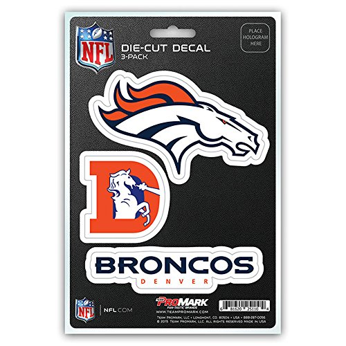 NFL Denver Broncos Team Decal, 3-Pack - Broncos Team