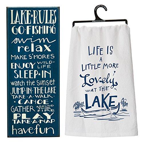 Lake House Decor Gift Set - Includes