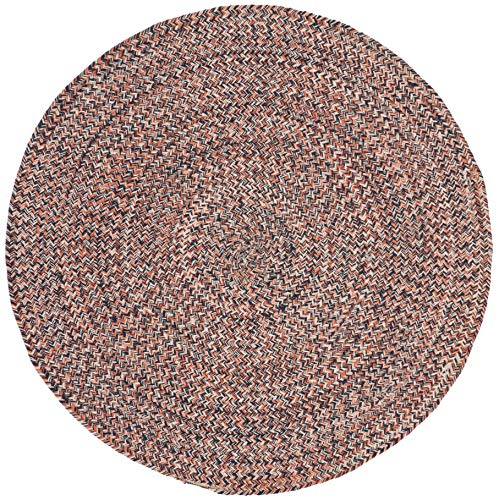 - Safavieh BRD701P-5R Braided Collection BRD701P Handmade Terracotta and Ivory Premium Cotton Area (5' Round) Rug,