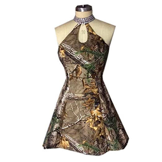 acc9f740d67 VStextile Short Camouflage Bridesmaid Dresses for Wedding at Amazon ...