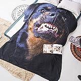 3D Animals Rottweiler Printing Summer Quilt Dog Bedding Blanket Kid Students Polyester Teens Comforter One Piece