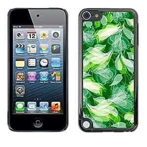 Jordan Colourful Shop - Clean Calm Mint Green Spring Pattern For Apple iPod Touch 5 Personalizado negro cubierta de la caja de pl????stico