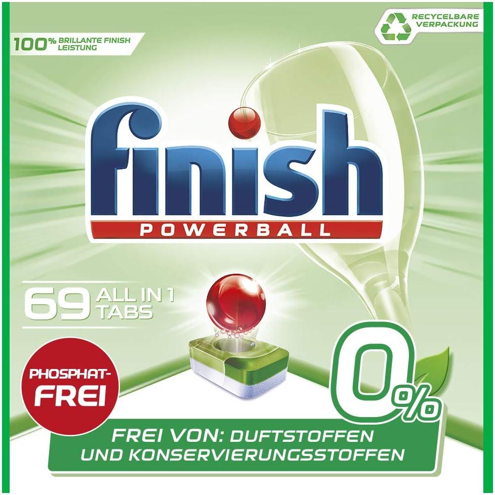 Pastillas para lavavajillas Finish 0%, limpieza brillante sin ...