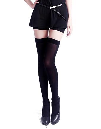 Opaque pantyhose overknee
