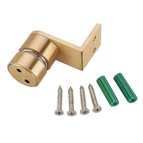 Eforlike 1 Pcs Pure Copper 90 Degree Magnetic Mount Catch Door Stop Door  Holder,Floor