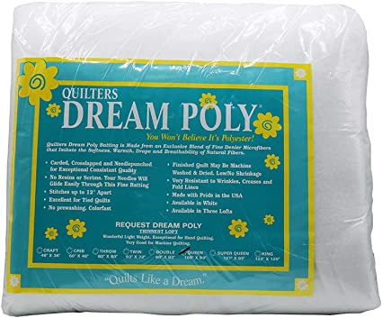Quilters Dream Batting Thin Loft Double Poly Request