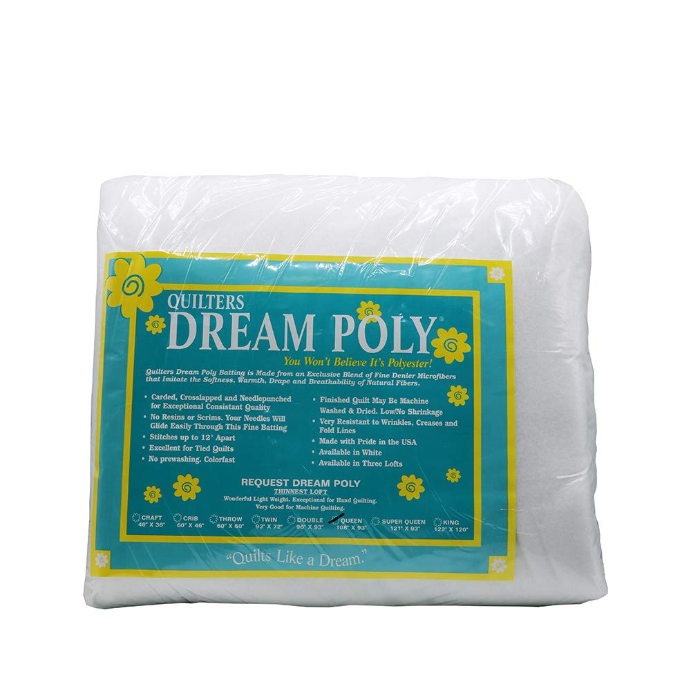 Quilters Dream Request White Poly Queen Batting DREAM P 3 Q