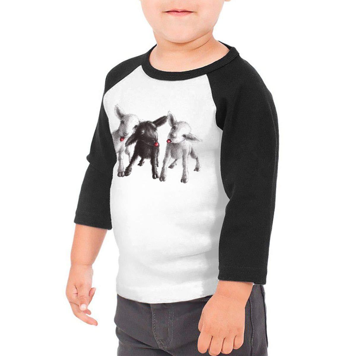 Kocvbng I Naughty Goats Raglan 3//4 Sleeve T Shirts for Girl Boy