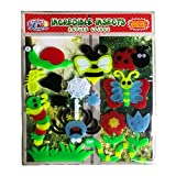 Incredible Insects Thick Jelly Window Gel Clings – CPSC Tested Safe Window Clings for Kids - Reusable and Removable Gel Decals of Butterfly, Spider, Caterpillar, Snail and More