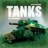 Tanks of the World 2019 12 x 12 Inch Monthly Square Wall Calendar, Military Vehicle Equipment