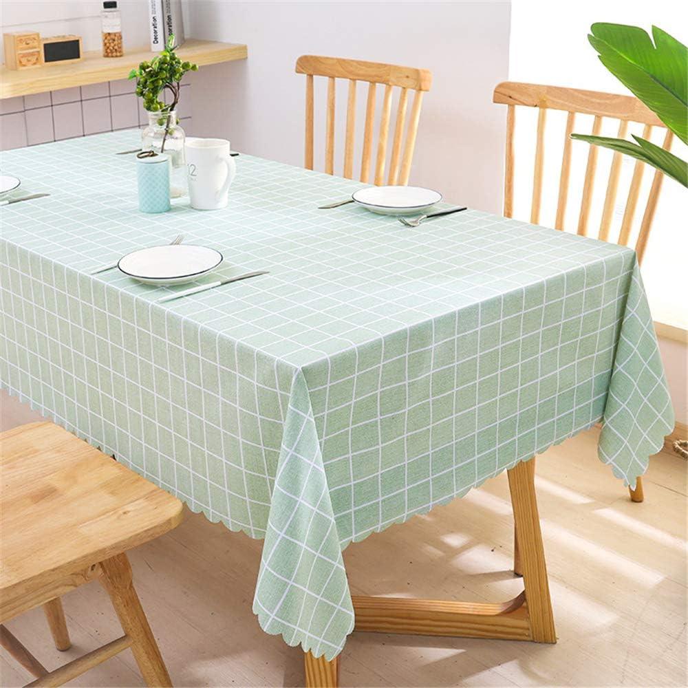 DHHY Mantel de PVC Patrón A Cuadros Impermeable Y A Prueba de Aceite Rectangular Coffee Table Cloth Home Hotel Decoration Table Cloth A 130X180cm / 51X71in: Amazon.es: Hogar