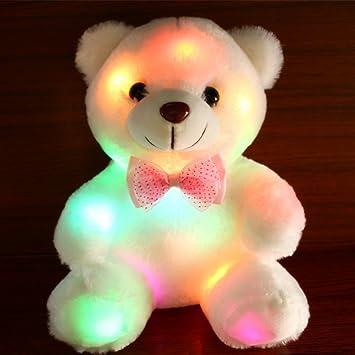 Geburtstag Geschenken f/ür Kinder zu Ostern Kuscheltieren Halloween-Fest RENNICOCO Gl/ühen-Teddyb/är mit leuchtenden LED-bunten Nachtlichtern