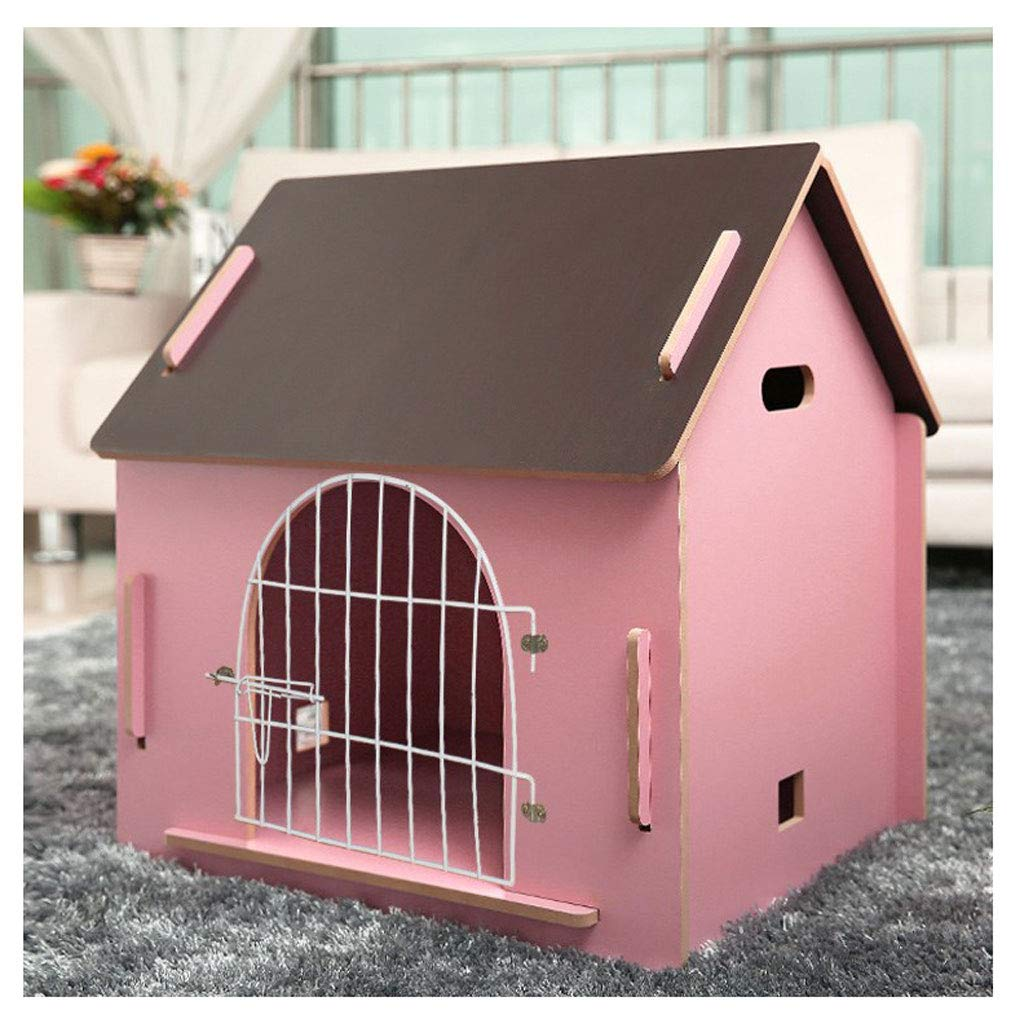 Have door Small Have door Small ZHhome Wooden Detachable Kennel, for Pet Has a Home,Pink color (Multi-Style and Multi-Size Optional) (color   Have door, Size   Small)