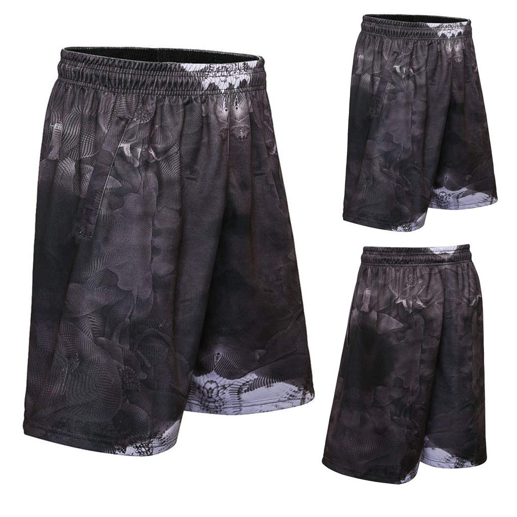 Mens Active Performance Athletic Workout Shorts Gym Clothes Shorts with 10 Inch Inseam