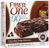 Fiber One Brownies, 90 Calories – Chocolate Fudge – 5.34 oz – 6 ct Review