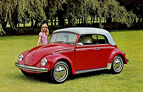 Amazon com: 1968 Volkswagen Beetle 1500 Cabriolet Factory