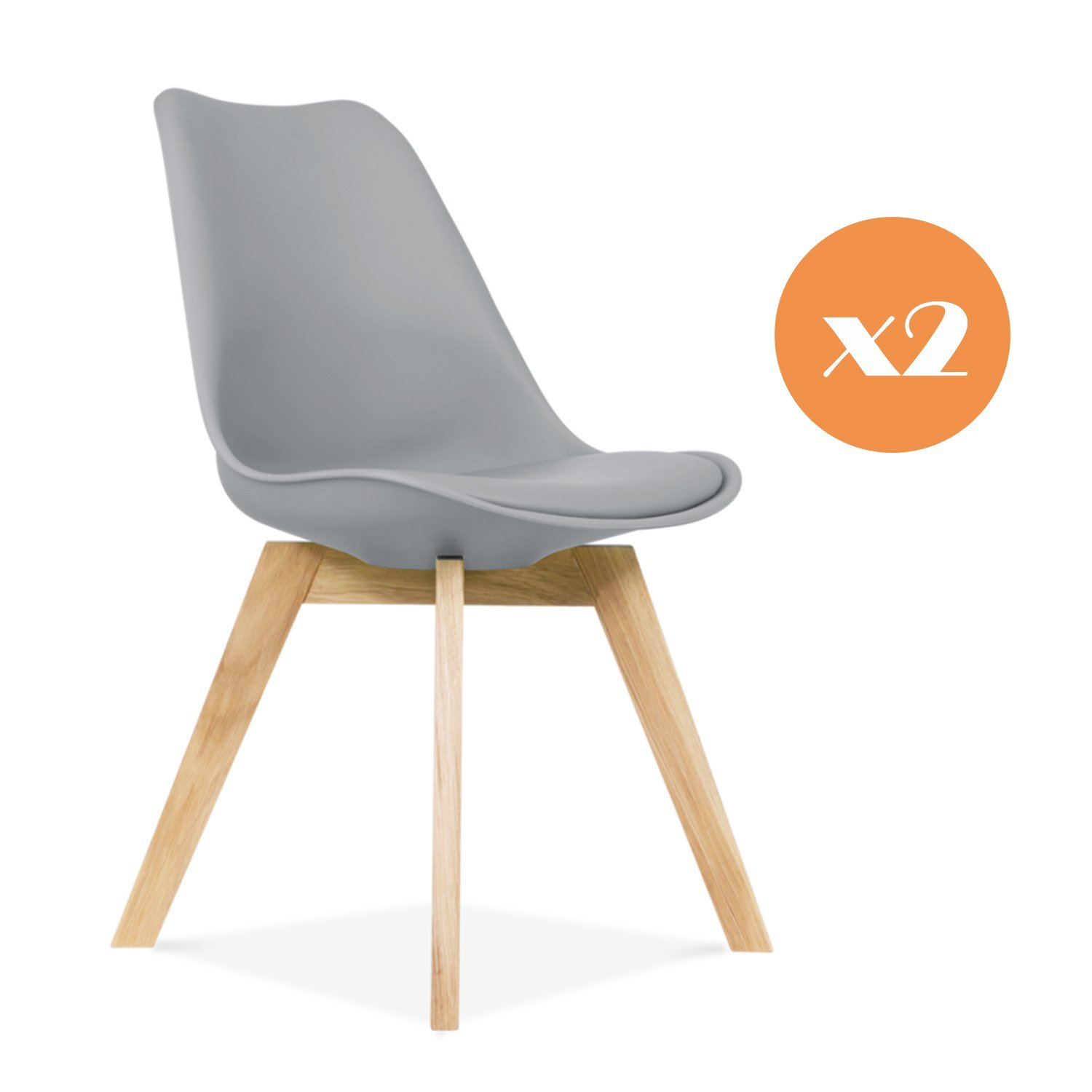 Mmilo Tulip Dining Chair fice chair with Solid legs Padded