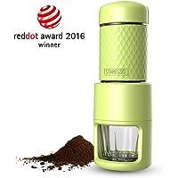 [Reddot award] STARESSO SP-200 Cafetera Italiana Express Manual de Viaje Máquina de Café Capuchino Portátil con Copa de Cristal