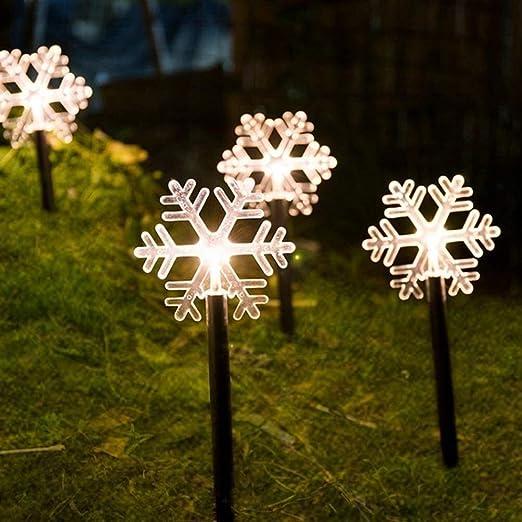 Farolillos solares exterior Forma de Estrella, Jardín Luces LED Luces de estrellas impermeable al aire libre