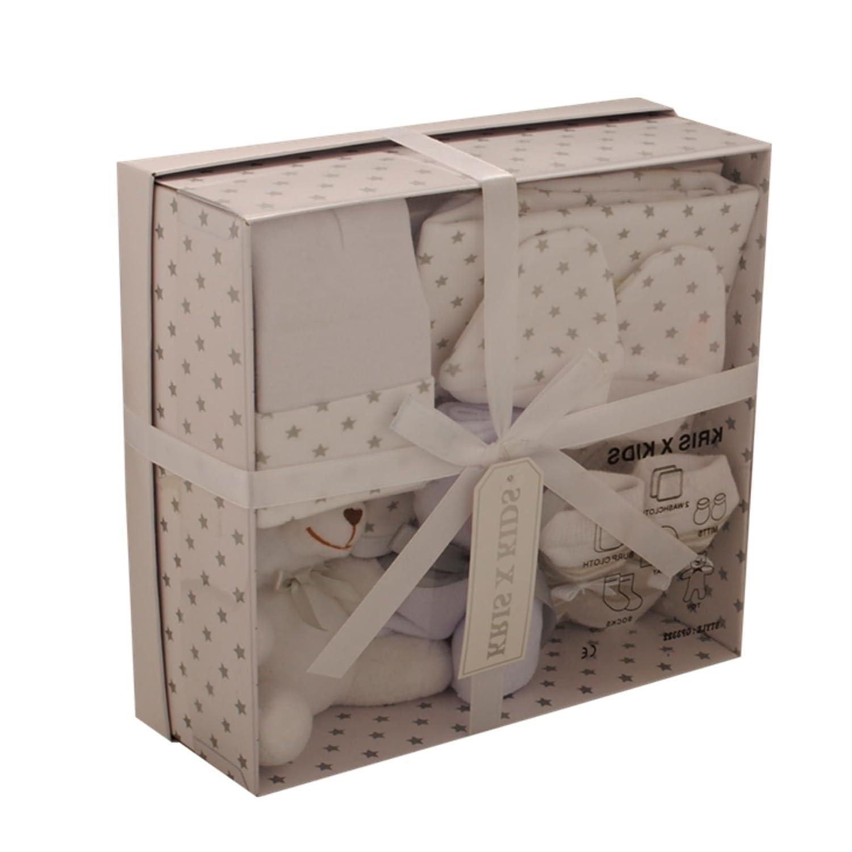 Baby Gift Set - Newborn Or Baby Shower Gift Box/Hamper for Boy Or Girl White 0-3 Months Kris X Kids