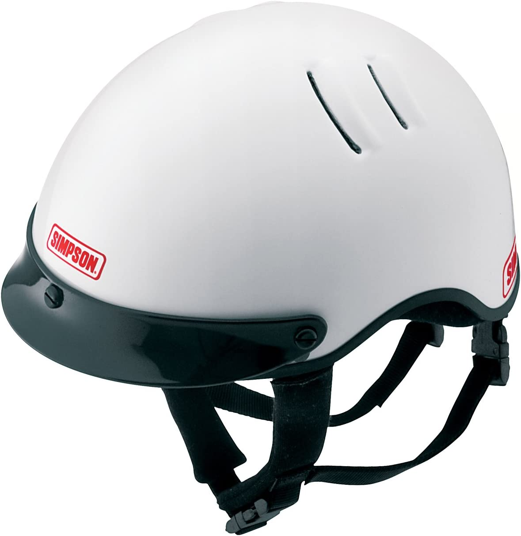 Simpson Racing 1430021 Over The Wall Medium White Shorty Helmet