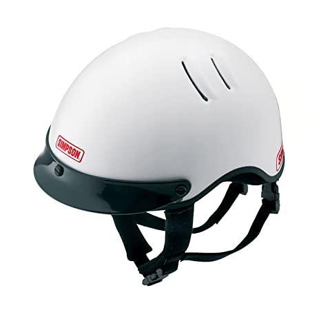 Simpson Racing Helmets >> Simpson Racing 1430031 Over The Wall Large White Shorty Helmet