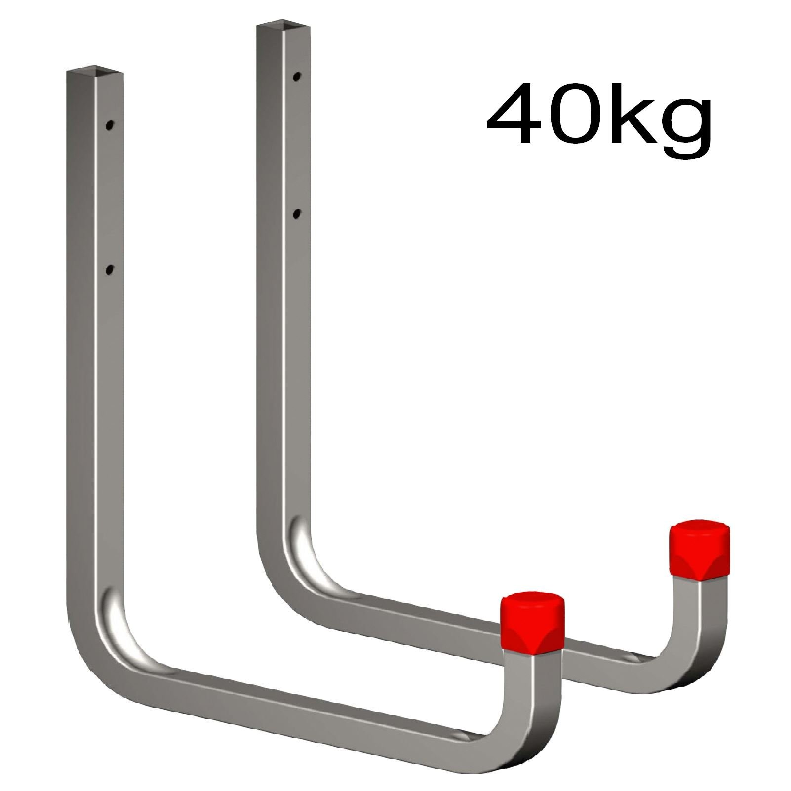2 x 250mm Extra Large Storage Wall Hooks 40kg Galvanised Steel, Ladders & Tools