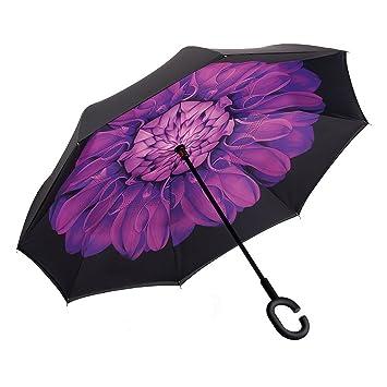 XIANGYUE El paraguas inversa de doble capa que puede estar de pie, el paraguas plegable