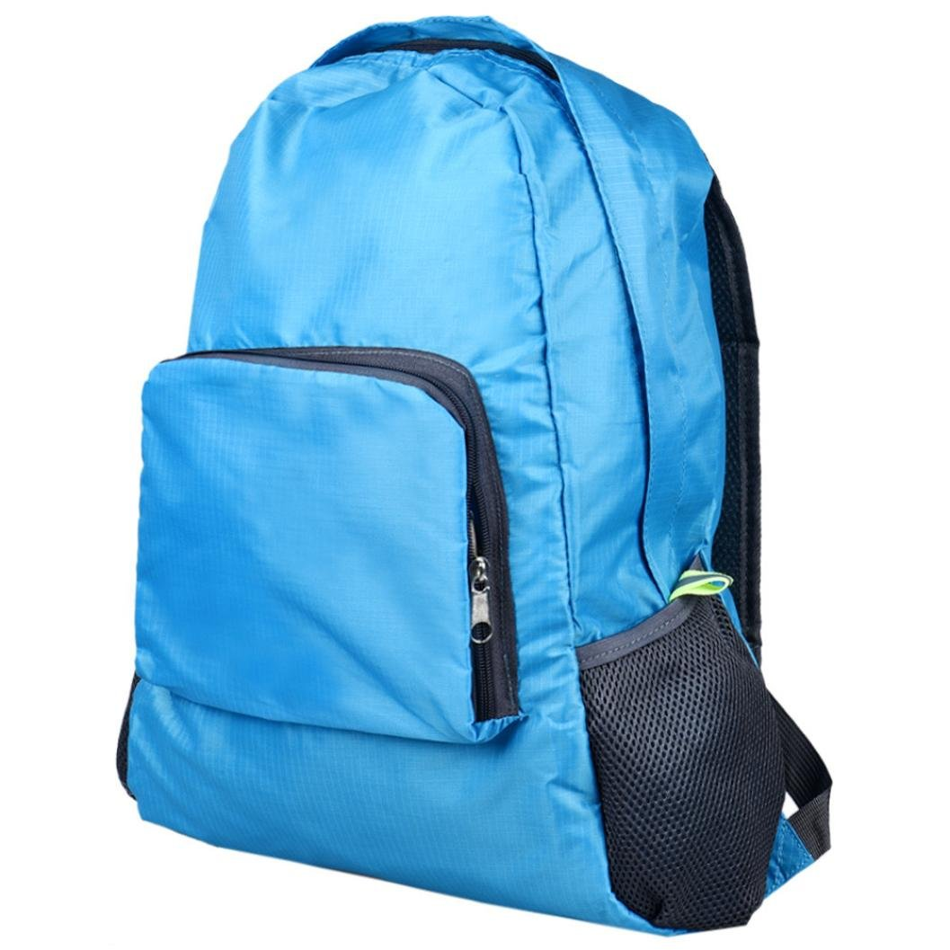 Pocciol Ultra Lightweight Backpack Durable Portable Travel Hiking Backpack Daypack for Women/Men 5 Colors Available (Blue)