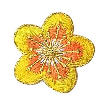 Ularma 10PC DIY Bordado Flores Coser Parches Ciruela Flor Apliques Ropa Bordado Parche Adhesivo De Hierro Coser Tela, Remiendo del Bordado (E): Amazon.es: ...