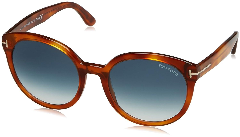 deb31a304e27 Amazon.com  Tom Ford FT0503 53W Blond Havana Phillipa Round Sunglasses Lens  Category 2 Size  Tom Ford  Clothing