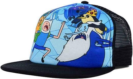 ADVENTURE TIME FINN VS ICE KING FOAM MESH FLAT BRIM SNAPBACK HAT CAP BRAND NEW
