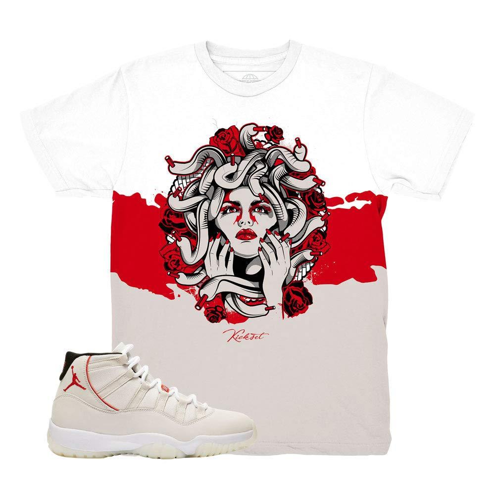 06c10b71a23a6a Platinum Tint 11 Medusa Roses White Shirt to Match Jordan 11 Platinum Tint  Sneakers