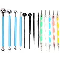 13Pcs Polymer Modeling Clay Sculpting Tools, Dotting Tools, Ball Stylus, Ceramic Clay Indentation Tools Pottery Craft…