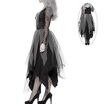 interlink uk halloween kostum damen zombie braut leiche vampir gruseliger effekt kleid l